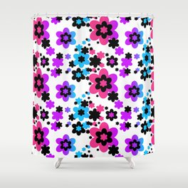 Rainbow Flowers Shower Curtain
