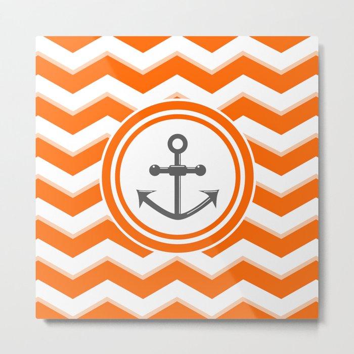 Chevron Anchor Metal Print