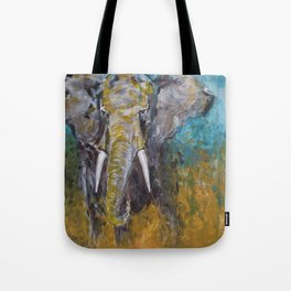 African Elephant Bull Tote Bag
