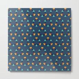 Kaleidescope blue Metal Print