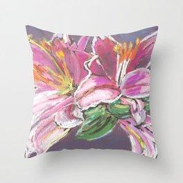 Vibrant Lily Throw Pillow