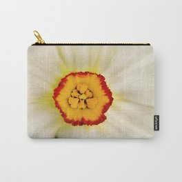 Painted Daffodil Macro Carry-All Pouch