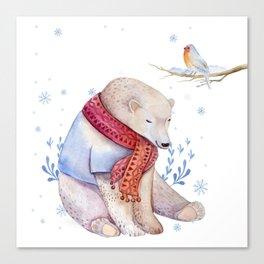 Christmas bear #2 Canvas Print