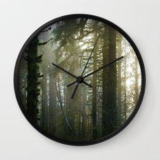 Foggy Forest #evergreen Wall Clock