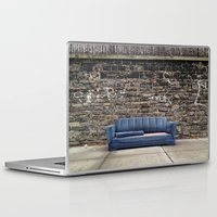 sofa Laptop & iPad Skins featuring sofa free by danielle marie