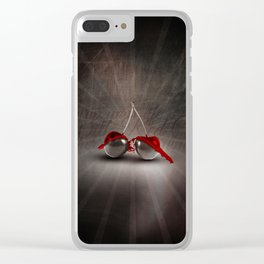 Cherry Splash Clear iPhone Case