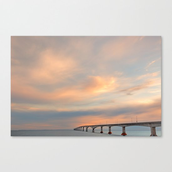 Sunset Sky Bridge Canvas Print