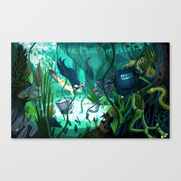 Spying on the Ama Diver Canvas Print