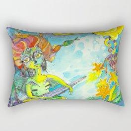 Octopus Girl Rectangular Pillow