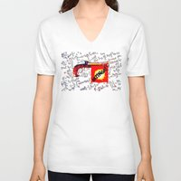 bazinga V-neck T-shirts featuring BAZINGA!   -   012 by Lazy Bones Studios