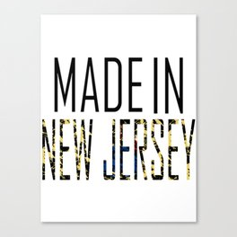 Made In New Jersey Canvas Print