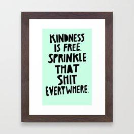 Sprinkle Kindness Framed Art Print