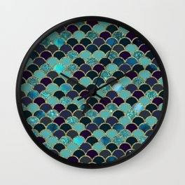 Emerald Sea Wall Clock