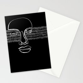 graphic portrait Stationery Cards