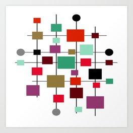 Mid-Century Modern Art 1.3.4 Art Print