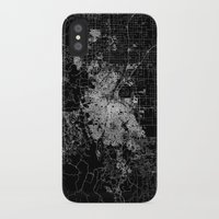 denver iPhone & iPod Cases featuring Denver map by Line Line Lines