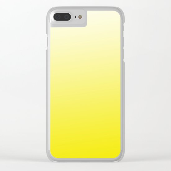 Simply sun yellow color gradient - Mix and Match with Simplicity of Life Clear iPhone Case