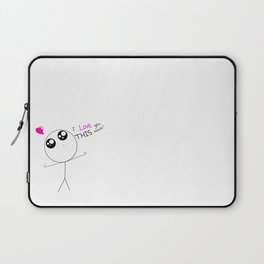 I Love You This Much ! Laptop Sleeve