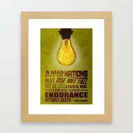 Idea JFK Quote Framed Art Print