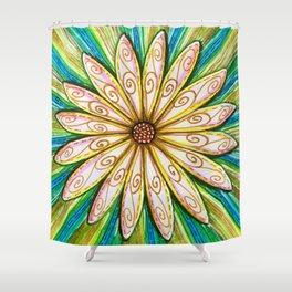 Bursting Daisy Shower Curtain