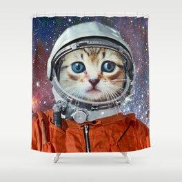 Astronaut Cat #4 Shower Curtain