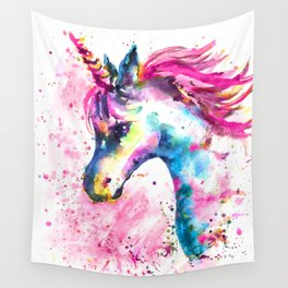 Pink Unicorn Wall Tapestry