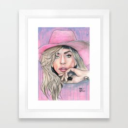 JOANNE by nickdrawart Framed Art Print
