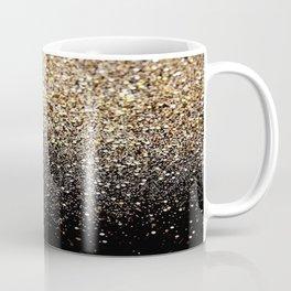 Black & Gold Sparkle Coffee Mug