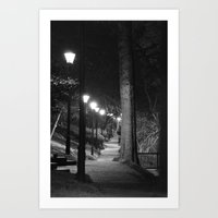 Late Night Walk Art Print