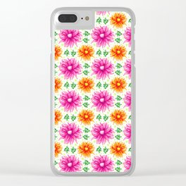 Pink and orange cacti flower Clear iPhone Case