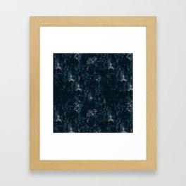 Dark Blue Polygon Grunge Framed Art Print