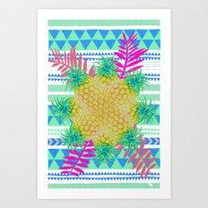 Pineapple Tribal Art Print