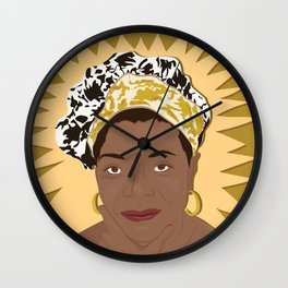 Maya Angelou | Bad Ass Women Series Wall Clock