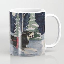 Moonlit Run - Watercolor Coffee Mug