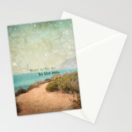 Come With Me to the Sea Stationery Cards