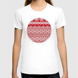 Cute Red Crochet Lace Flowers  T-shirt