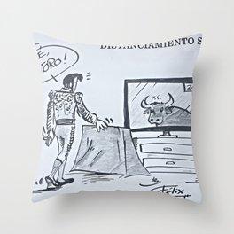 Distanciamiento Social Throw Pillow