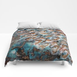 Turquoise peace Comforters