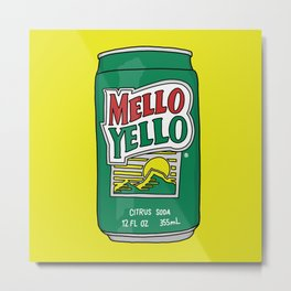 Mello Yello Metal Print