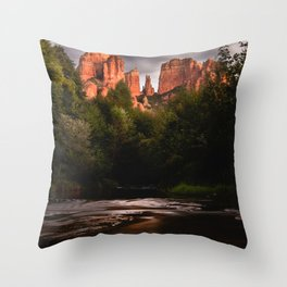 Sedona Vortex II - Chimney Rock Desert Photography Throw Pillow