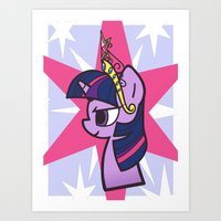 Princess Twilight Sparkle Art Print