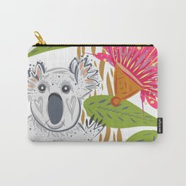 Koala animal nature lover happy print Carry-All Pouch