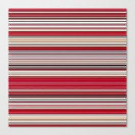 Modern Red Tan Line Decor Canvas Print