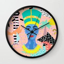 Postmodern Nefertiti Wall Clock