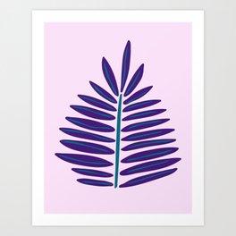 Purple Succulent Print Art Print