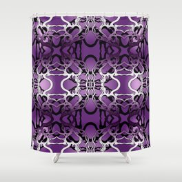 Puple heart swirl Shower Curtain