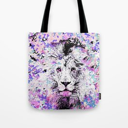 LION PINK and WHITE Tote Bag