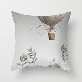 Morning Balloon Throw Pillow