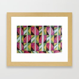 Abstract pattern red Framed Art Print