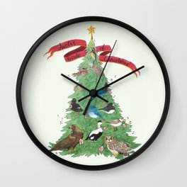 The Twelve Birds of Christmas Wall Clock